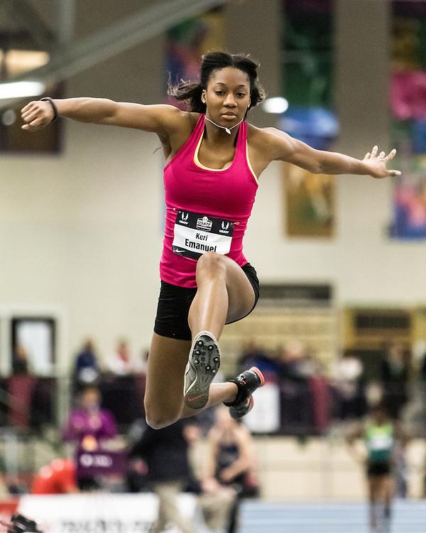 USATF Indoor Track & Field Championships: womens long jump, Keri Emanuel
