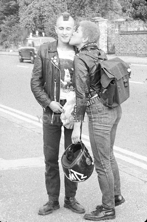 Punk couple, UK, 1980s