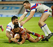 Ukuma Ta'ai of Huddersfield Giants score a try against Wakefield Trinity during the Ladbrokes Challenge Cup match at the John Smiths Stadium, Huddersfield<br /> Picture by Stephen Gaunt/Focus Images Ltd +447904 833202<br /> 11/05/2018