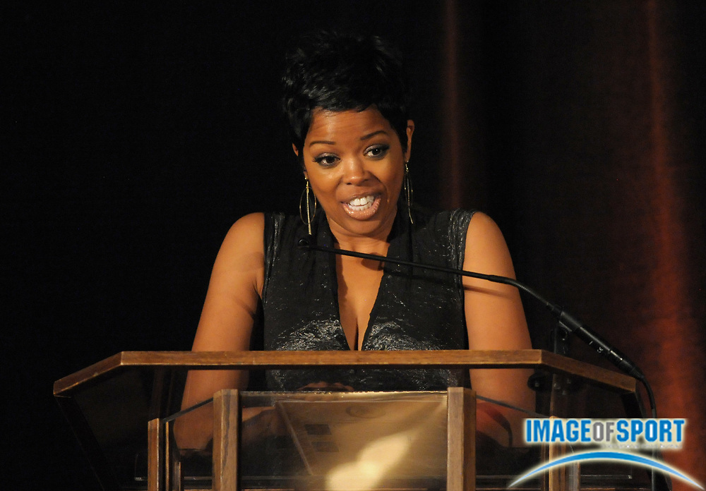 Mar 30, 2012; Austin, TX, USA; Film actress Malinda Williams at the 6th annual Minority Mentorship Symposium at the AT&T Executive Education and Conference Center.