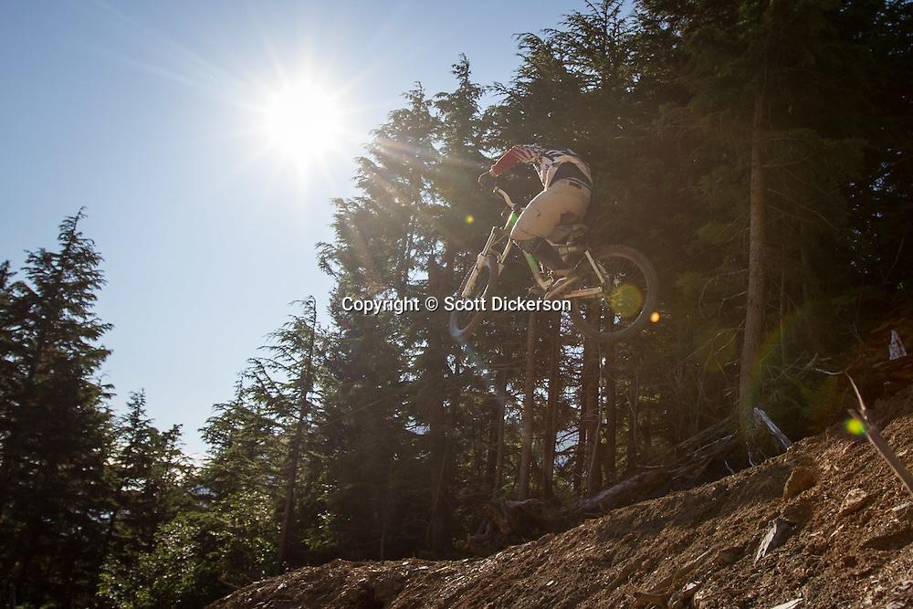 Downhill Mountain Biking at Alyeska Resort, Girdwood, Alaska.