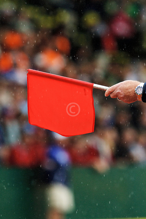 track officials red flag