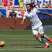 Jermaine Jones, USA, in action during the US Men's National Team Vs Turkey friendly match at Red Bull Arena.  The game was part of the USA teams three-game send-off series in preparation for the 2014 FIFA World Cup in Brazil. Red Bull Arena, Harrison, New Jersey. USA. 1st June 2014. Photo Tim Clayton
