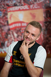 KIRKBY, LIVERPOOL - Tuesday, April 23, 2013: Liverpool Football Club's Ryan McLaughlin photographed at the club's Kirkby Academy. (Pic by David Rawcliffe/Propaganda)