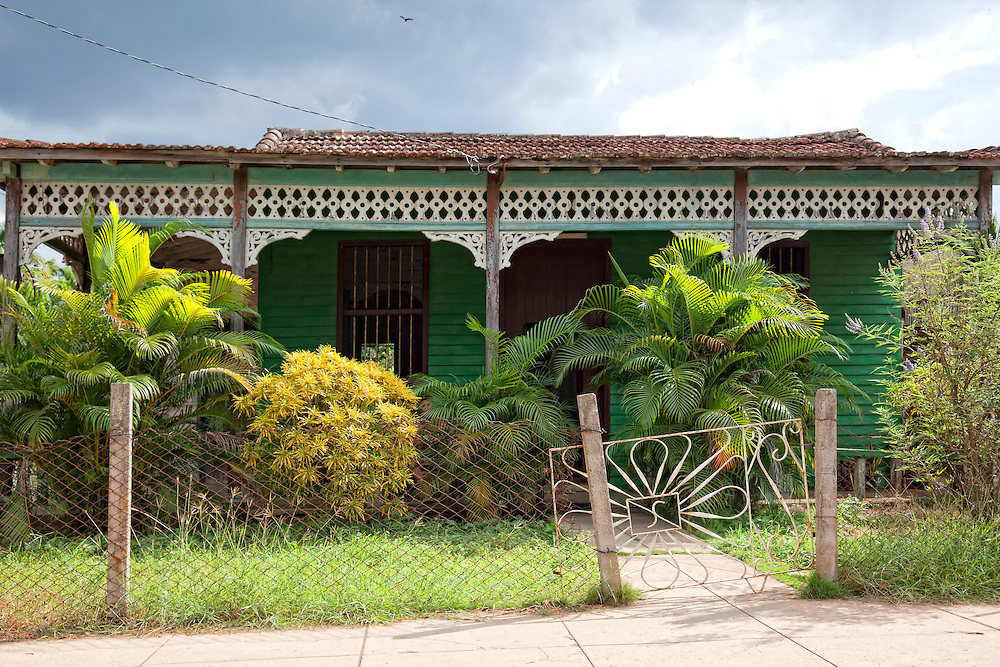House with gingerbread in Cantel, Matanzas, Cuba.