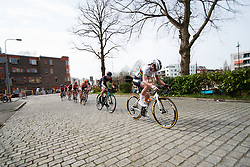Chantal Blaak (NED) in the break at Healthy Ageing Tour 2018 - Stage 5, a 94.3 km road race in Groningen on April 8, 2018. Photo by Sean Robinson/Velofocus.com