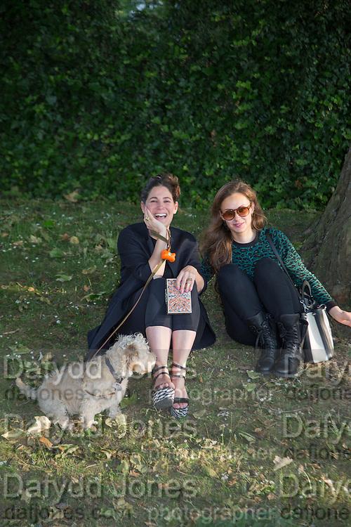 ELIZABETH SALTZMAN; CAMILLA AL FAYAD,  CHARLES FINCH'S CHUCS SWIMATHON 2013, SERPENTINE, Hyde Park, London. 4 July 2013.