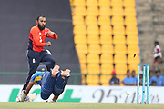 Dasun Shanaka,  during the One Day International match between Sri Lanka and England at Pallekele International Cricket Stadium, Pallekele, Sri Lanka on 20 October 2018.