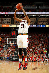 Louisville guard Shaqquan Aaron. <br /> <br /> The University of Louisville hosted Duke University, Saturday, Jan. 17, 2015 at The Yum Center in Louisville. <br /> <br /> Duke won the game 63-52.