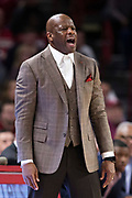 FAYETTEVILLE, AR - FEBRUARY 27:  Head Coach Mike Anderson of the Arkansas Razorbacks yells to his team during a game against the Auburn Tigers at Bud Walton Arena on February 27, 2018 in Fayetteville, Arkansas.  The Razorbacks defeated the Tigers 91-82.  (Photo by Wesley Hitt/Getty Images) *** Local Caption *** Mike Anderson
