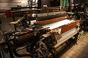 East Europe Poland West Mazovia Lodz antique loom in Industrial museum Manufaktura.Shopping and entertainment complex