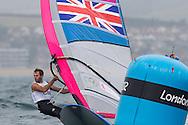 ENGLAND, Weymouth. 31st July 2012. Olympic Games.RS:X Men's Windsurfer class. Nick Dempsey (GBR).
