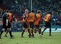 Photo: Kevin Poolman.<br />Crystal Palace v Ipswich Town. Coca Cola Championship. 18/03/2006. <br />Ipswich players celebrate their first goal.