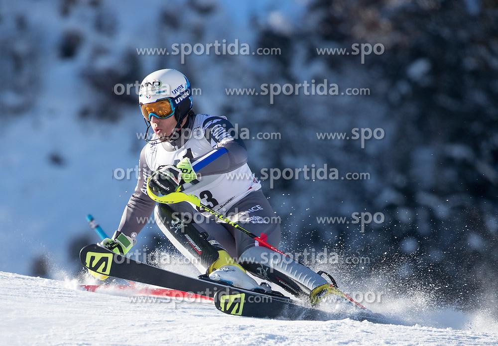 22.01.2017, Hahnenkamm, Kitzbühel, AUT, FIS Weltcup Ski Alpin, Kitzbuehel, Slalom, Herren, 1. Lauf, im Bild Victor Muffat-Jeandet (FRA) // Victor Muffat-Jeandet of France in action during his 1st run of men's Slalom of FIS ski alpine world cup at the Hahnenkamm in Kitzbühel, Austria on 2017/01/22. EXPA Pictures © 2017, PhotoCredit: EXPA/ Johann Groder