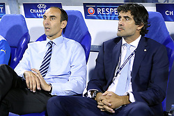 21.08.2013, Maksimir Stadion, Zagreb, CRO, UEFA CL Qualifikation, GNK Dinamo Zagreb vs FK Austria Wien, Hinspiel, im Bild Trainer Zagreb Krunoslav Jurcic, sport direktor Zoran Mamic // during the UEFA Champions League, Qualification first leg match between GNK Dinamo Zagreb and FK Austria Wien at Maksimir Stadium in Zagreb, Croatia on 2013/08/21. EXPA Pictures © 2013, PhotoCredit: EXPA/ Pixsell/ Goran Stanzl<br /> <br /> ***** ATTENTION - for AUT, SLO, SUI, ITA, FRA only *****
