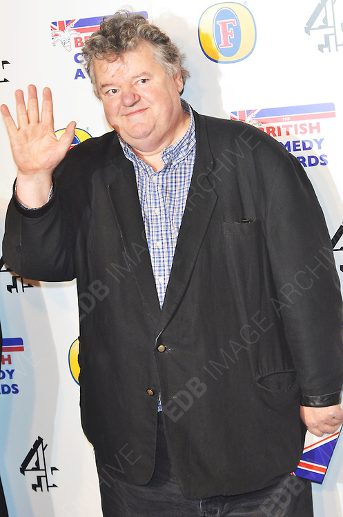 16.DECEMBER.2011. LONDON<br /> <br /> ACTOR ROBIE COLTRANE ARRIVING AT THE 'BRITISH COMEDY AWARDS 2011' HELD AT THE FOUNTAIN STUDIOS IN WEMBLEY, LONDON.<br /> <br /> BYLINE: EDBIMAGEARCHIVE.COM<br /> <br /> *THIS IMAGE IS STRICTLY FOR UK NEWSPAPERS AND MAGAZINES ONLY*<br /> *FOR WORLD WIDE SALES AND WEB USE PLEASE CONTACT EDBIMAGEARCHIVE - 0208 954 5968*