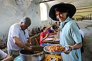 Livorno Ferraris. Tenuta Torrone della Colombara where the rice has been grown since the end of 1400, when the rice farming started in the northern part of Italy. Maria Nava and Piero Rondolino owners of La Colombara where great emphasis has been placed to the natural habitat.