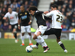 Derik Osede of Bolton Wanderers (L) and Thomas Ince of Derby County in action - Mandatory by-line: Jack Phillips/JMP - 09/04/2016 - FOOTBALL - iPro Stadium - Derby, England - Derby County v Bolton Wanderers - Sky Bet Championship