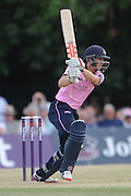 John Simpson batting towards his highest t20 score during the NatWest T20 Blast South Group match between Middlesex County Cricket Club and Somerset County Cricket Club at Uxbridge Cricket Ground, Uxbridge, United Kingdom on 26 June 2015. Photo by David Vokes.