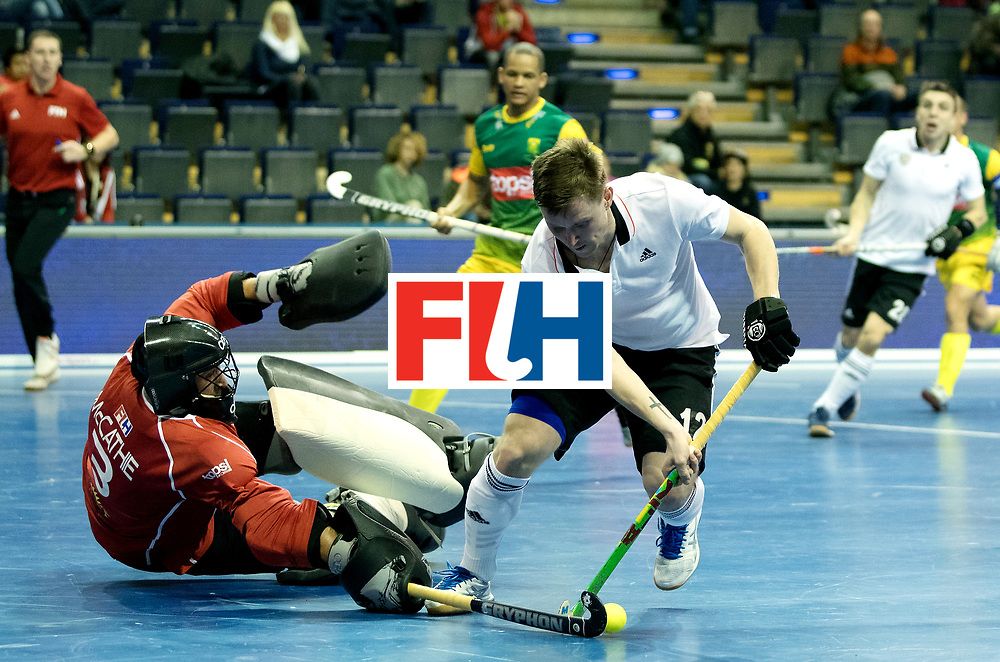 BERLIN - Indoor Hockey World Cup<br /> Men: Russia - South Africa<br /> foto: KORNILOV Anton and Chris McCarthie.<br /> COPYRIGHT WILLEM VERNES