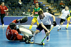 BERLIN - Indoor Hockey World Cup<br /> Men: Russia - South Africa<br /> foto: KORNILOV Anton and Chris McCarthie.<br /> COPYRIGHT WILLEM VERNES