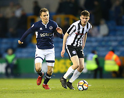January 27, 2018 - London, United Kingdom - Rochdale's Daniel Adshead.during FA Cup 4th Round match between Millwall against Rochdale  at The Den, London on 27 Jan 2018  (Credit Image: © Kieran Galvin/NurPhoto via ZUMA Press)