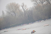 Putney/Barnes,  Great Britain,  right, , Marbacher RV [GER] ,  chasing Mainzer RV, and the Danske Studenters RoKlub,  2008 Head of the River Race. Raced from Mortlake to Putney, over the Championship Course.  15/03/2008  [Mandatory Credit. Peter Spurrier/Intersport Images] Rowing Course: River Thames, Championship course, Putney to Mortlake 4.25 Miles,