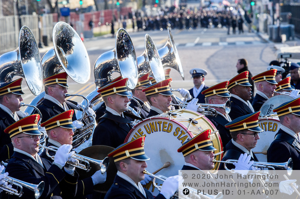 Pershings Own, participate in the parade for the 57th Presidential Inauguration of President Barack Obama at the U.S. Capitol Building in Washington, DC January 21, 2013.