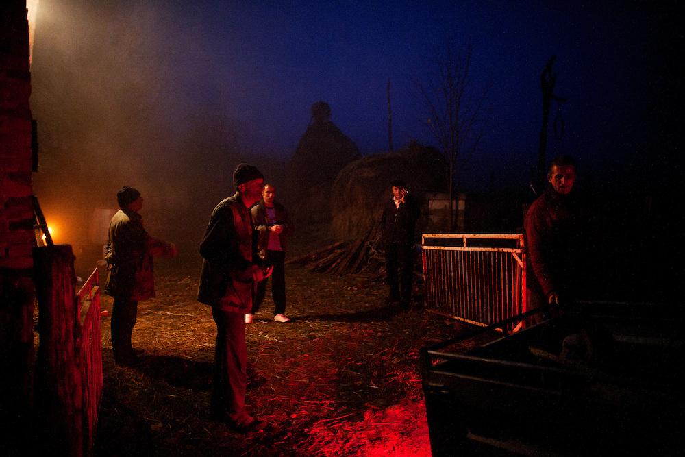 Rakija Production in Trudelj, Serbia in late November 2011.