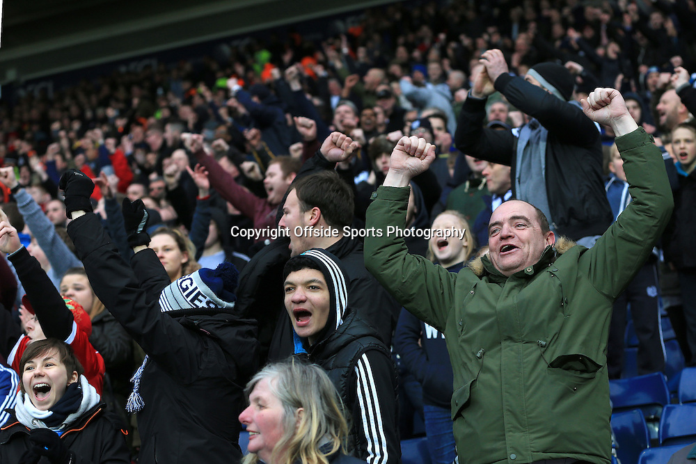 14th March 2015 - Barclays Premier League - West Bromwich Albion v Stoke City - West Bromwich Albion fans celebrate at the final whistle - Photo: Paul Roberts / Offside.