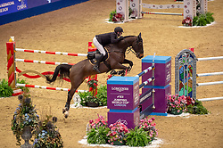 Longines FEI World Cup™ Jumping Olympia London International second placed Karel Cox (BEL) & Evert 22/12/18<br /> Photo FEI/Jon Stroud