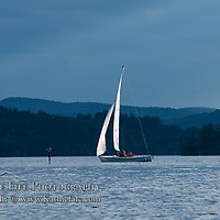 Sailing on Squam Lake, New Hampshire.