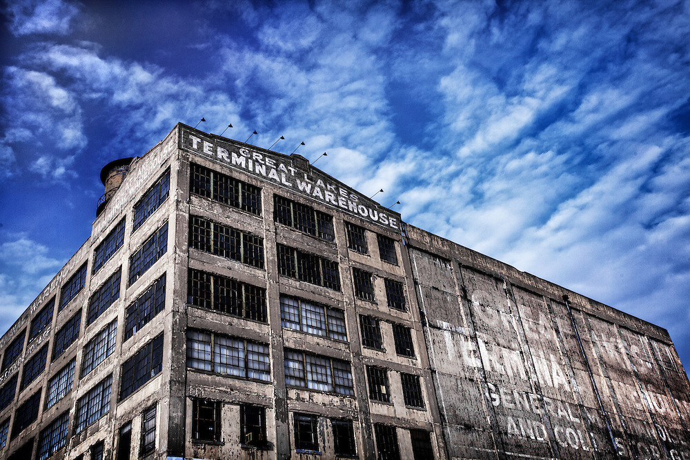 The Great Lakes Terminal Warehouse on Morris Street in Toledo, Ohio. March, 2014