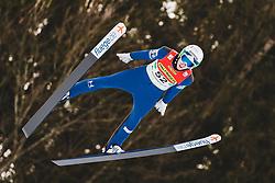 16.02.2020, Kulm, Bad Mitterndorf, AUT, FIS Ski Flug Weltcup, Kulm, Herren, Qualifikation, im Bild Timi Zajc (SLO) // Timi Zajc of Slovenia during his qualification Jump for the men's FIS Ski Flying World Cup at the Kulm in Bad Mitterndorf, Austria on 2020/02/16. EXPA Pictures © 2020, PhotoCredit: EXPA/ JFK
