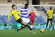 Burton Albion midfielder Luke Murphy (30) tackling Queens Park Rangers forward Idrissa Sylla (40) during the EFL Sky Bet Championship match between Queens Park Rangers and Burton Albion at the Loftus Road Stadium, London, England on 28 January 2017. Photo by Matthew Redman.