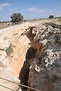 Underground Water Cisterns at Zippori (Sepphoris) National Park Israel. A mishnaic-period city with an abundance of mosaics