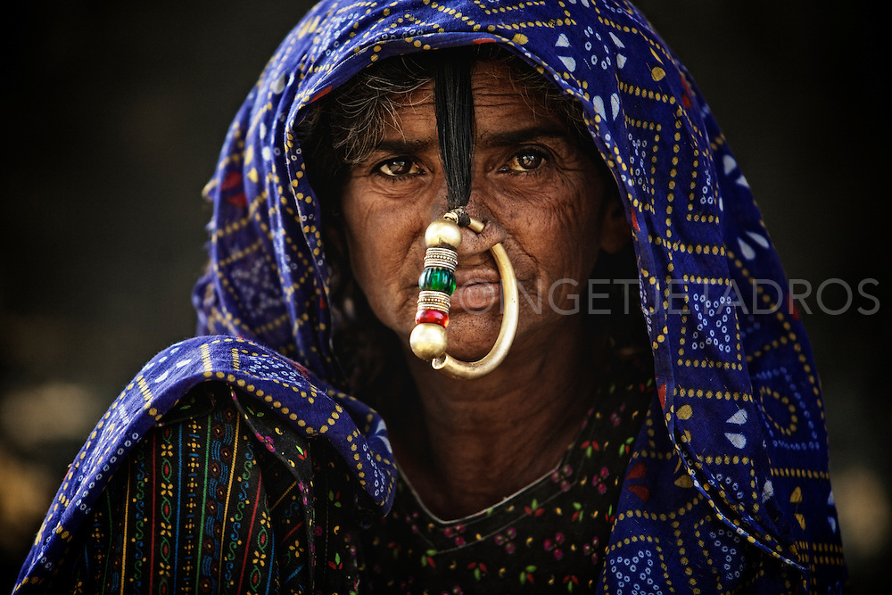 Woman from the Jaht tribe in Gujarat, India.<br />