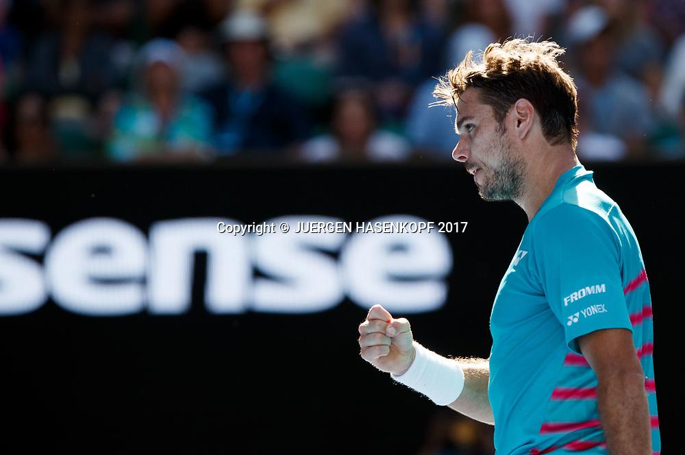 STAN WAWRINKA (SUI)<br /> <br /> Australian Open 2017 -  Melbourne  Park - Melbourne - Victoria - Australia  - 24/01/2017.