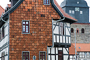 Marktplatz mit Kirche, Harzgerode, Harz, Sachsen-Anhalt, Deutschland | market square and church, Harzgerode, Harz, Saxony-Anhalt, Germany