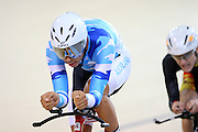 Auckland's Myron Simpson at the BikeNZ Elite & U19 Track National Championships, Avantidrome, Home of Cycling, Cambridge, New Zealand, Sunday, March 16, 2014. Credit: Dianne Manson