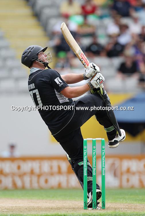 Jesse Ryder batting during the 6th ODI, Black Caps v Pakistan, One Day International Cricket. Eden Park, Auckland, New Zealand. Saturday 5 February 2011. Photo: Andrew Cornaga/photosport.co.nz