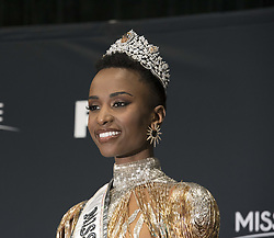 December 9, 2019, Atlanta, GA, USA: Miss South Africa Zozibini Tunzi was crowned  Miss Universe 2019. She answers reporters questions following pageant in Atlanta Sunday night. (Credit Image: © Robin Rayne/ZUMA Wire)