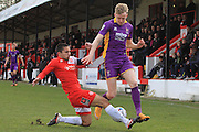 Barney Williams and George McLennan during the Vanarama National League match between Welling United and Cheltenham Town at Park View Road, Welling, United Kingdom on 5 March 2016. Photo by Antony Thompson.