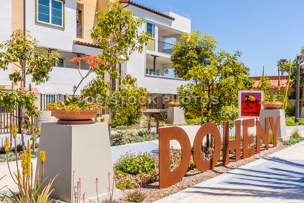 Metal Doheny Signage and The Endless Summer Mosaic Art at Waterman's Sculpture Park