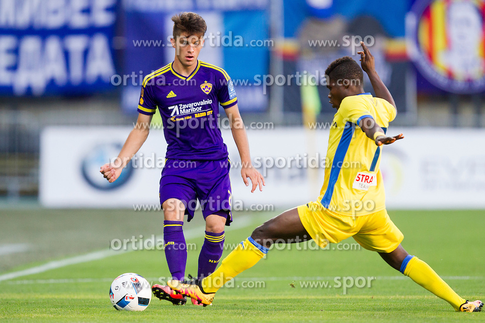 Adis Hodzic #2 of NK Maribor during 1st Leg football match between NK Maribor (SLO) and PFC Levski Sofia (BUL) in Second Qualifying Round of UEFA Europa League 2016/17, on July 14, 2016 in Sports park Ljudski vrt, Slovenia. Photo by Urban Urbanc / Sportida