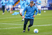 Forest Green Rovers assistant manager, Scott Lindsey during the warm up during the Vanarama National League match between Macclesfield Town and Forest Green Rovers at Moss Rose, Macclesfield, United Kingdom on 12 November 2016. Photo by Shane Healey.