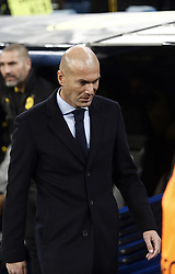 December 6, 2017 - Madrid, Spain - Real Madrid coach, Zinedine Zidane, during the UEFA Champions League group H match between Real Madrid and Borussia Dortmund at Santiago Bernabéu. (Credit Image: © Manu_reino/SOPA via ZUMA Wire)