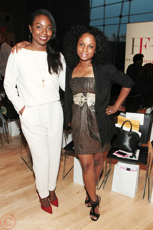 6 September 2013- New York, NY: (L-R) Marielle Bobo, Style Director, Ebony Magazine and Erica Goodman, Fashion Director, Ebony Magazine attend Harlem Fashion Row 2013 Spring Presentation held at Jazz at Lincoln Center on September 6, 2013 in New York City. ©Terrence Jennings