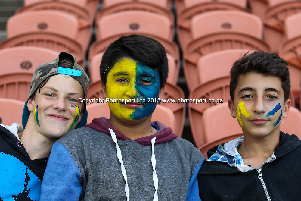 Rugby fans ahead of the Super 15 Rugby Match - Chiefs v Highlanders, 6 March 2015 at Waikato Stadium, Hamilton, New Zealand on Friday 6 March 2015.  Photo:  Bruce Lim / www.photosport.co.nz