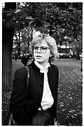 SALLY BRAMPTON, outside Yves st. Laurent, , during the Paris fashion shows. SUPPLIED FOR ONE-TIME USE ONLY> DO NOT ARCHIVE. © Copyright Photograph by Dafydd Jones 248 Clapham Rd.  London SW90PZ Tel 020 7820 0771 www.dafjones.com